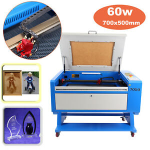 Usb Port 50w Co2 Laser Engraving cutting Machine Up down With Rotary Attachment