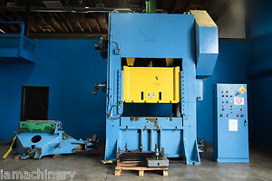 200 Ton Federal Straight Side Double Crank Punch Press 60 X 42 Bed