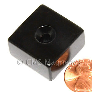 Cms Magnetics 50 Pcs Neo Magnets N42 1x1x1 2 W 1 8 Countersunk s Pole