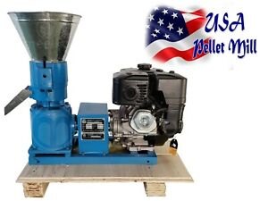Wood For Biomass Pellet Mill 120mm 5 Gasoline Engine Pellet Press In Warehouse