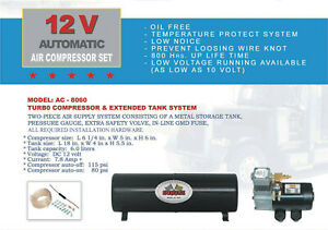 Heavy Duty 12v Dc Truck Pickup On Board Air Compressor With 6 0 Liter Tank