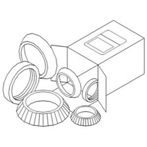 Wheel Bearing Kit Fit Ford New Holland Tractor 20 25 Tw5 5000 8240 Ehpn1190a