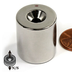 Cms Magnetics 4 Pieces Neodymium Magnet N42 7 8x1 W 10 Countersunk Two sided