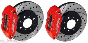 Wilwood Dpha Front Brake Calipers Drilled Slotted Rotor Kit Red 92 00 Civic Ex