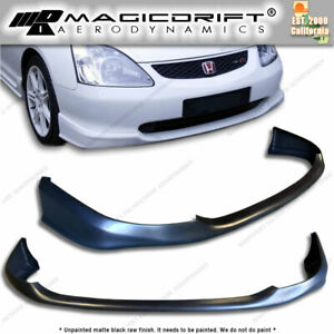 For 02 05 Honda Civic 3dr Hatch Hb Si Ep3 Type R Style Front Bumper Lip Body Kit