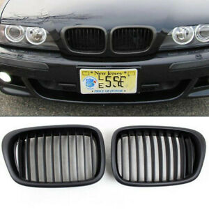 Front Matt Black Kidney Grilles Grill For Bmw E39 525 528 530 535 M5 2000 2003