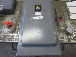 Used Square D 200 Amp 240 Vac Safety Switch Panel make Offer