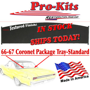 Fits 66 67 Coronet Gtx Belvedere 2 Door Hardtop Rear Window Package Tray Shelf