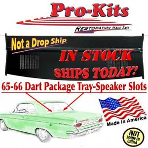 65 66 Dart Package Tray W Speakerswith Vinyl Panelboard Hinge