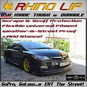 Honda Jazz City Abrio Civic Del Sol Cr z Rubber Chin Lip Spoiler Splitter Trim