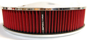 Spectre 14x3 Chrome Racing Air Cleaner Filter Assembly Fits 5 1 8 Holley Carb