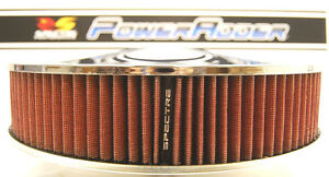 Spectre K N 14 Chrome Racing Air Cleaner Light Red Gauze Washable Oil Filter