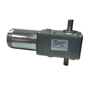 12vdc 22rpm High torque Reversible Electric Worm Gear Motor With Dual Shaft