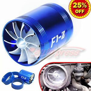For Ford Supercharger Cold Air Intake Turbo Dual Gas Fuel Saver Fan Bl 2 5 3 0
