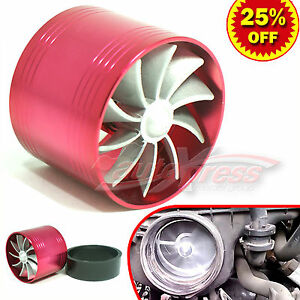 For Toyota 2 5 3 0 Turbo Charger Air Intake Turbine Gas Fuel Saver Fan Red