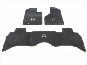 06 10 Dodge Ram Quad Cab Premium Front And Rear Carpet Floor Mat Oem New Mopar