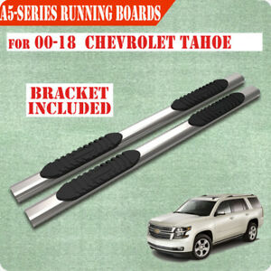 For 00 18 Chevrolet Tahoe 5 Nerf Bar Side Bar Running Boards Side Step Chrome A
