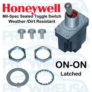 Honeywell Sealed Milspec On on Toggle Switch Ms24523 23 1tl1 3 Nascar Switch