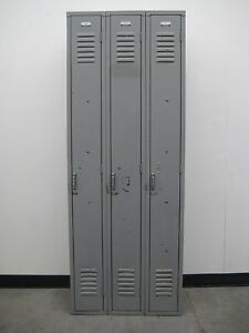 Gray School Metal Lockers 27 w X 15 D 72 H