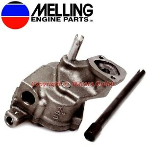 New Melling M77g Oil Pump Is77 Shaft Chevy Bb 396 402 427 454 496 Vortec