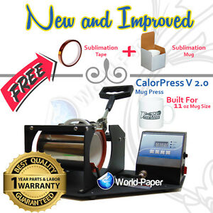 Digital Display Heat Press Transfer Sublimation Machine For Cup Coffee Mug