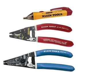 Klein Tools Tool Set volt Tester Meter low High Voltage Wire Strippers Pliers