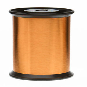 43 Awg Gauge Heavy Formvar Copper Magnet Wire 5 0lbs 0 0026 105c Amber Mw 15 c