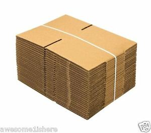Package Delivery Box Small Cardboard 25 Pack 9x6x4 Shipping Mailing Moving Mus