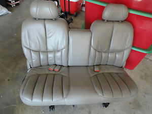 3rd Row Leather Seat With Seat Belts Bracket 99 Chrysler Town Country Van