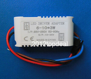 10pc Constant Current Driver F 6 10pcs 3w High Power Led In Series 6 10x3w 650ma