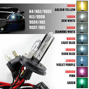 Two Xenon Light 35w 55w Hid Kit S Replacement Bulbs Headlight Hi Lo H4 9003 Hb2