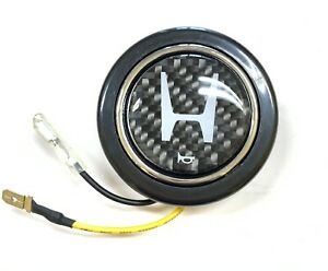 Honda Acura Carbon Fiber Steering Wheel Horn Button