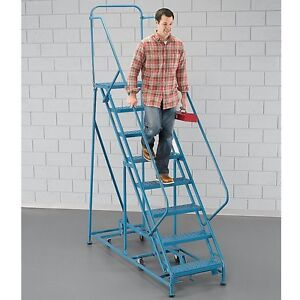 Ega Industrial Steel Rolling Ladder