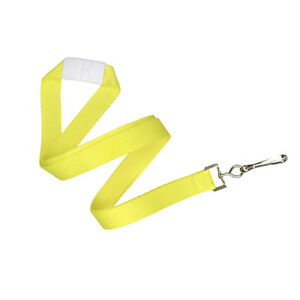 Qty 100 5 8 Neon Yellow Flat Braid Lanyard W Safety Breakaway 2138 5048
