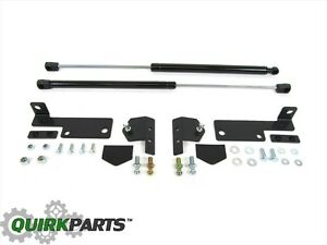 2009 2018 Jeep Wrangler Jk Gas Hood Prop Supports Hardware Kit Oem New Mopar