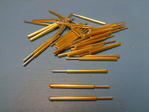 50 Spa 3j Everett Charles Pogo Spring Pin Full Rounded Tip Gold Made In Usa