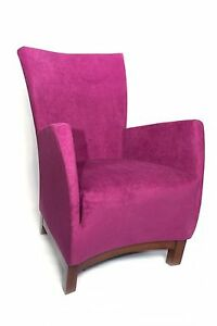 New Modern Contemporary fabric upholstery VIOLET accent chair in Purple