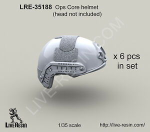 Live Resin 1 35 LRE 35188 Ops Core Helmet 6 PCS in Set Head not include $19.99