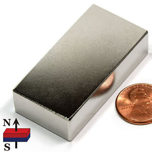 Cms Magnetics Super Strong N52 Neodymium Block Magnet 2 x1 x1 2 Best Seller