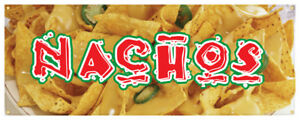 Nachos Banner Cheese Chips Mexican Food Concession Stand Sign 48x120