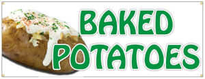 Baked Potatoes Banner Concession Stand Sign 48x120