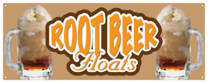 Root Beer Floats Banner Ice Cr me Cold Refreshing Concession Stand Sign 48x120