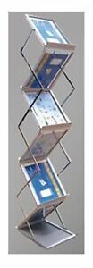 Literature Rack Display Holder Metal Stand For Trade Show 6 Pockets Free Shippin