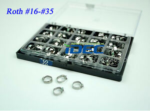 Dental Orthodontic Bands With Buccal Tube Roth Bands 80pcs