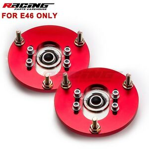 Camber Plates Fit Bmw E46 Pillow Adjustable 318 325i 325is M3 Coilover Kit Great