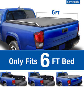 For 2005 2015 Toyota Tacoma 6 Bed Tyger T2 Roll Up Low Profile Tonneau Cover