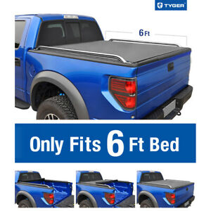 1982 2013 Ford Ranger 6 Bed Tyger T2 Roll Up Low Profile Tonneau Cover