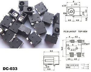 500pcs 4 pin Smd 3 5mm X 1 3mm Dc Socket Jack Pcb Charger Power Plug Soldering