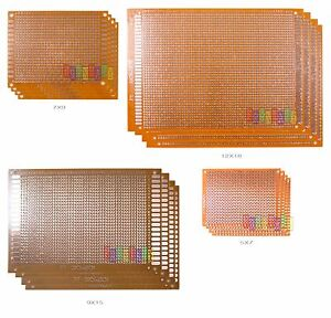 20x 20pcs 5x7 7x9 9x5 12x18 Diy Prototype Matrix Paper Pcb Universal Board Kit