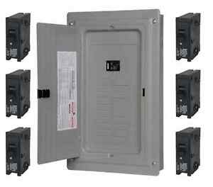 100 amp 40 circuit 20 space Main Load Center Panel includes 6 20 amp Breakers
